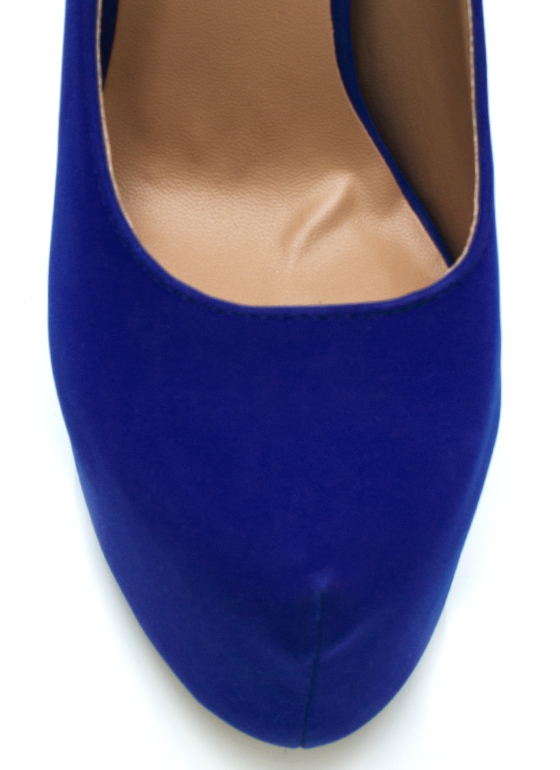 Mile High Club Heels BLUE