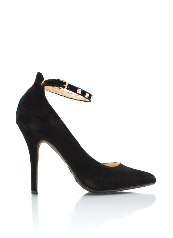 Stud Y Time Heels BLACK (Final Sale)