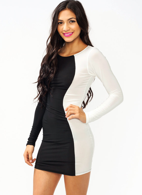 Opposites Attract Dress BLACKIVORY