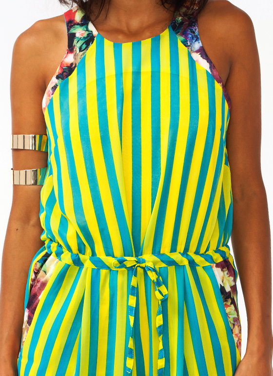 Stripes In A Garden Jumpsuit BLUEYELLOW