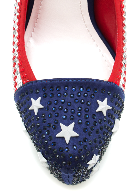 I Salute You Embellished Platforms REDBLUE