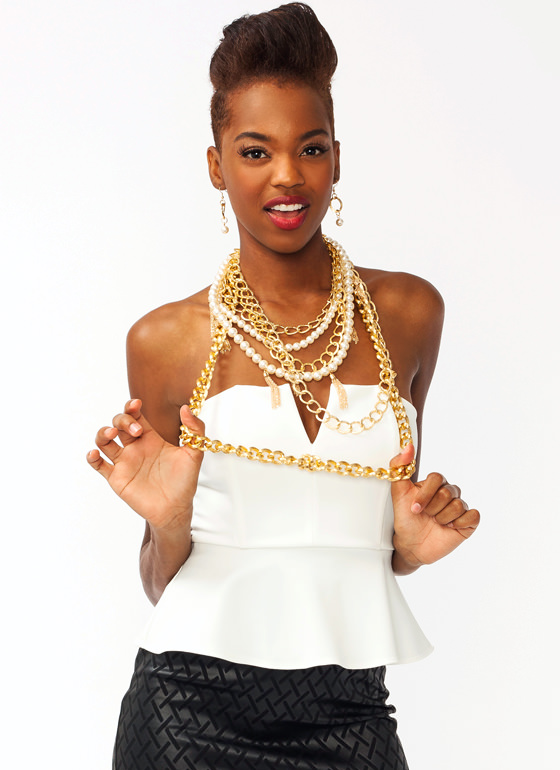 Endless Options Necklace GOLDIVORY