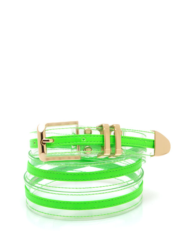 Clearly Cool Colored Belt NEONGREEN