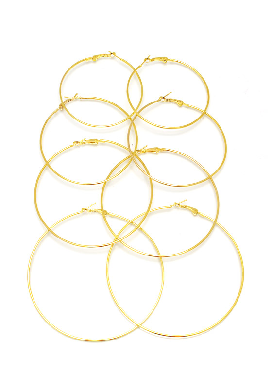 Hoop Troop Earring Set GOLD