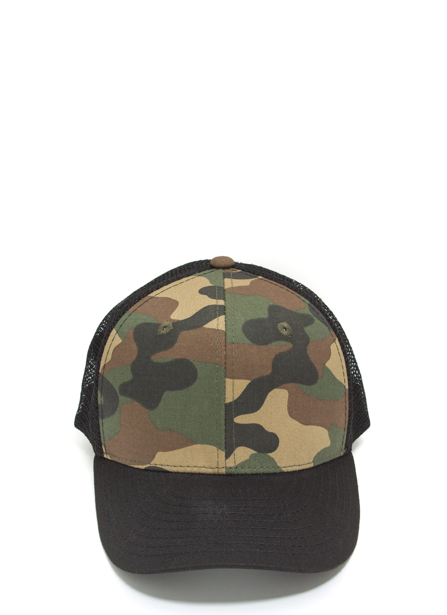 Crazy For Camo Trucker Snapback BLACKOLIVE
