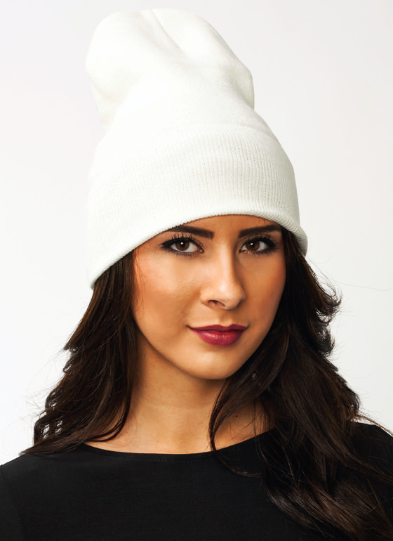 Super Long Sweater Beanie IVORY