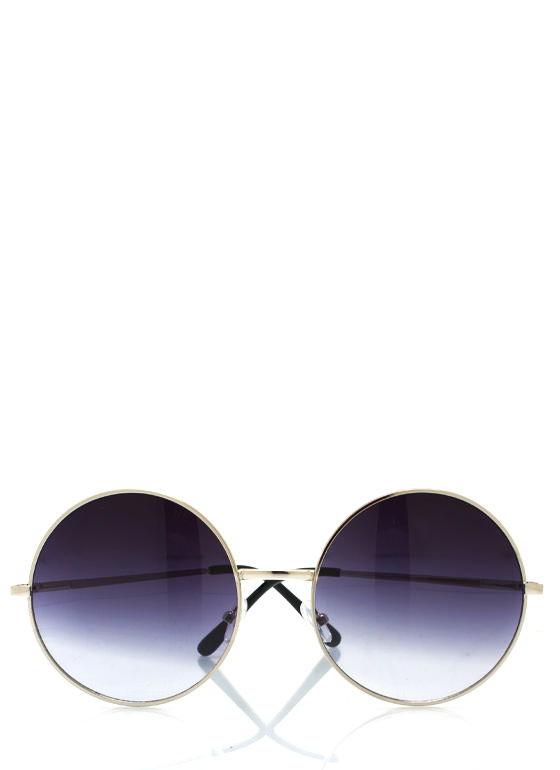 Psychedelic Hippie Love Sunglasses NAVYSILVER