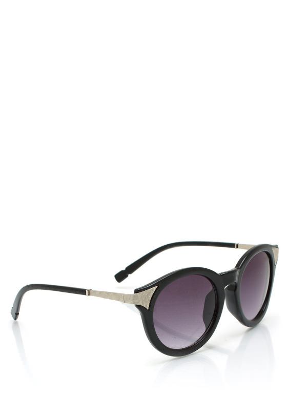Mess A Round Hot Tip Sunglasses BLACKSILVER