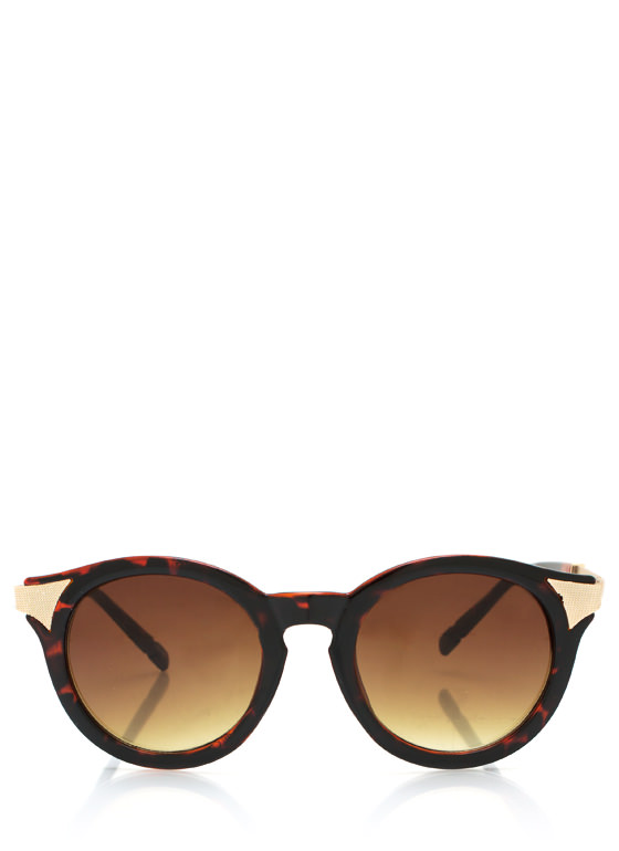 Mess A Round Hot Tip Sunglasses TORTGOLD