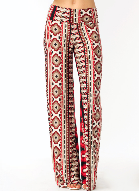 Perfectly Printed Lounge Pants WINE