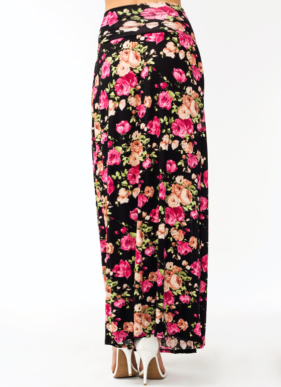 Garden Party Slit Maxi Skirt BLACKPINK