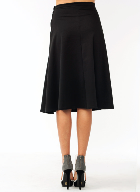 Flirty Flared Skirt BLACK