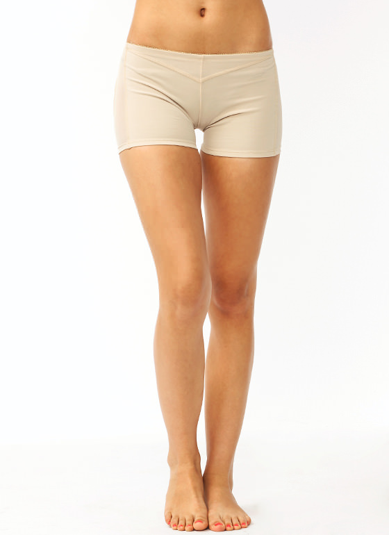 Butt Lifter Boy Shorts BEIGE