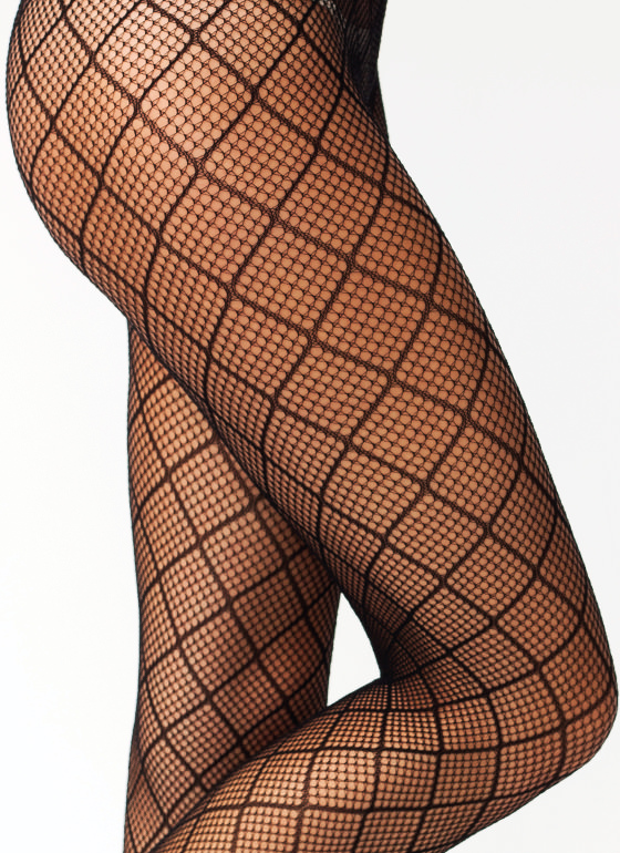 Out Of Line Fishnet Stockings BLACK