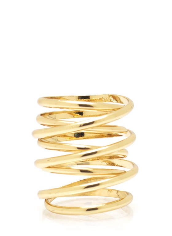 Spring Time Coil Ring GOLD