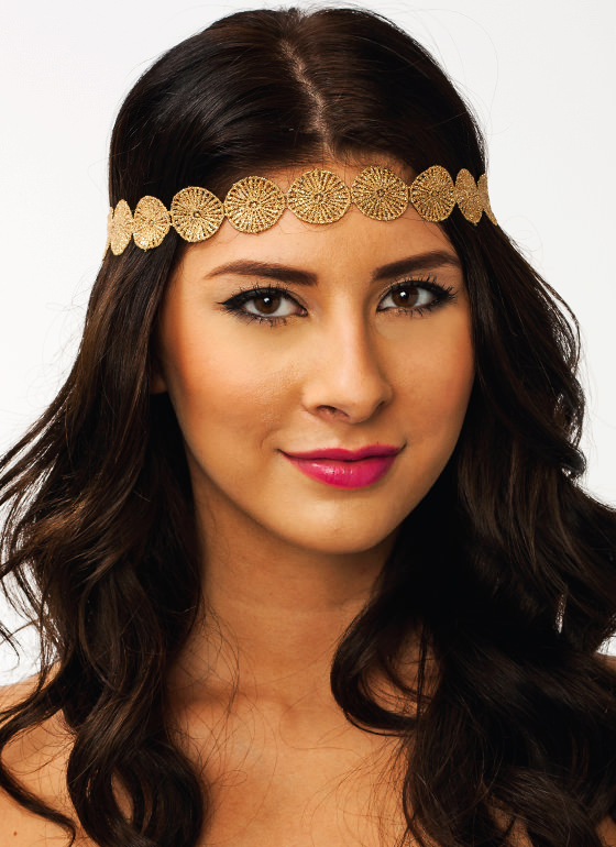 All That Glitters Disc Headband GOLDBLACK