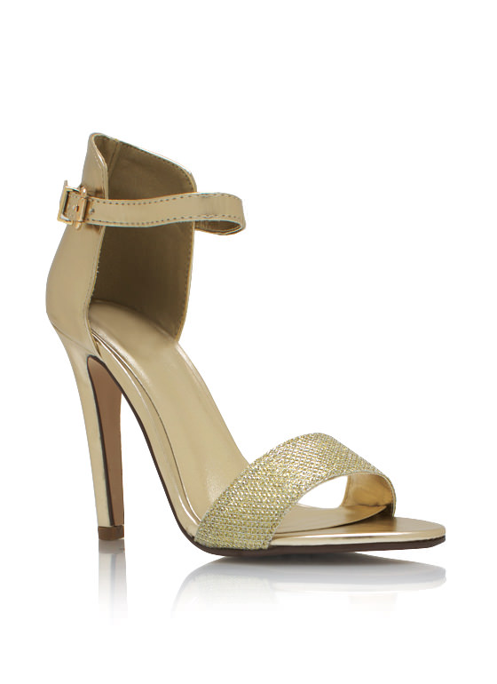 Glitter And Shimmer Metallic Heels LTGOLD