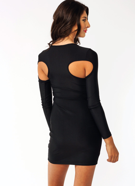 Cut It Out Mini Dress BLACK