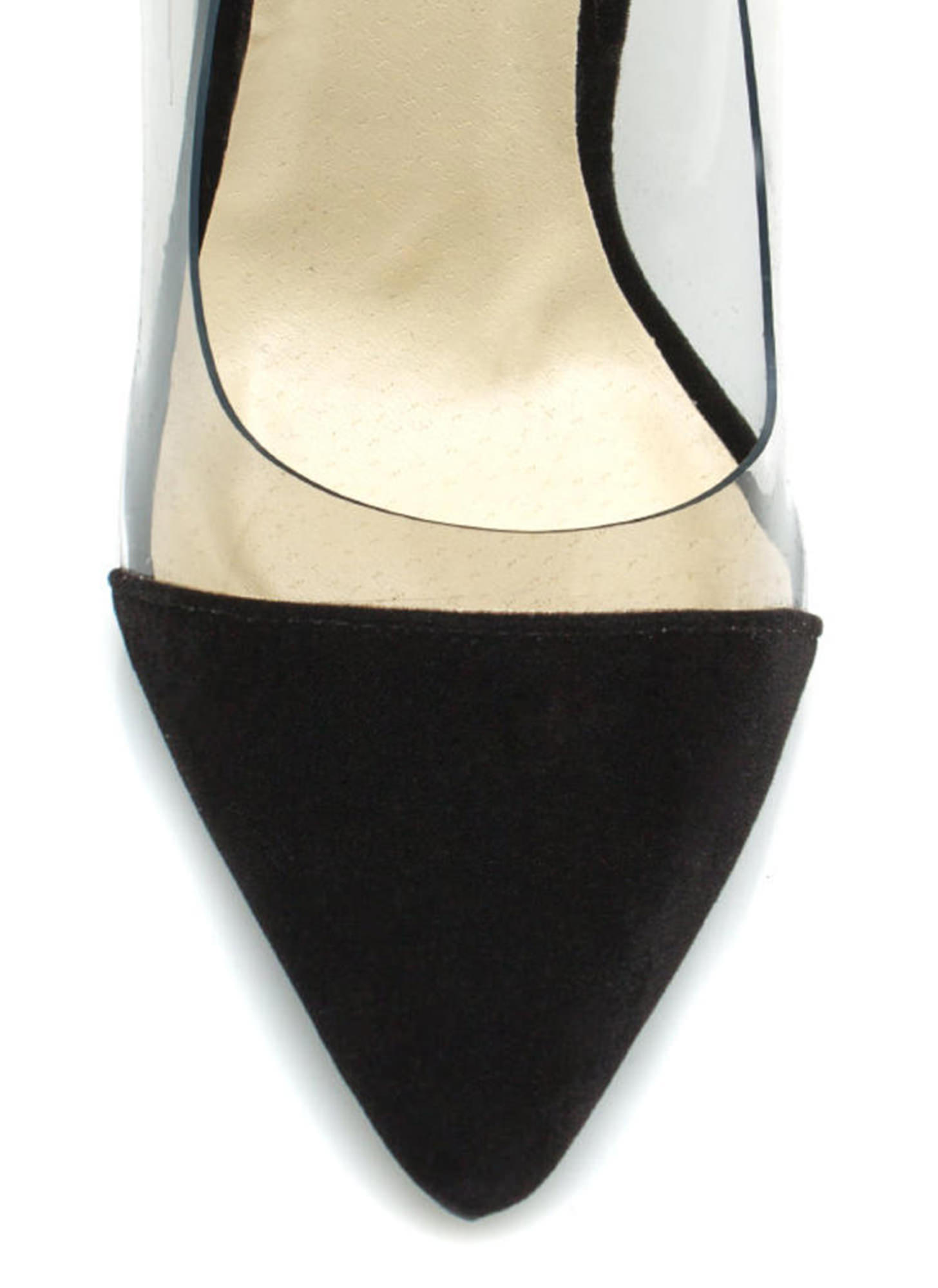 Show Some Skin Cap Toe Heels BLACK