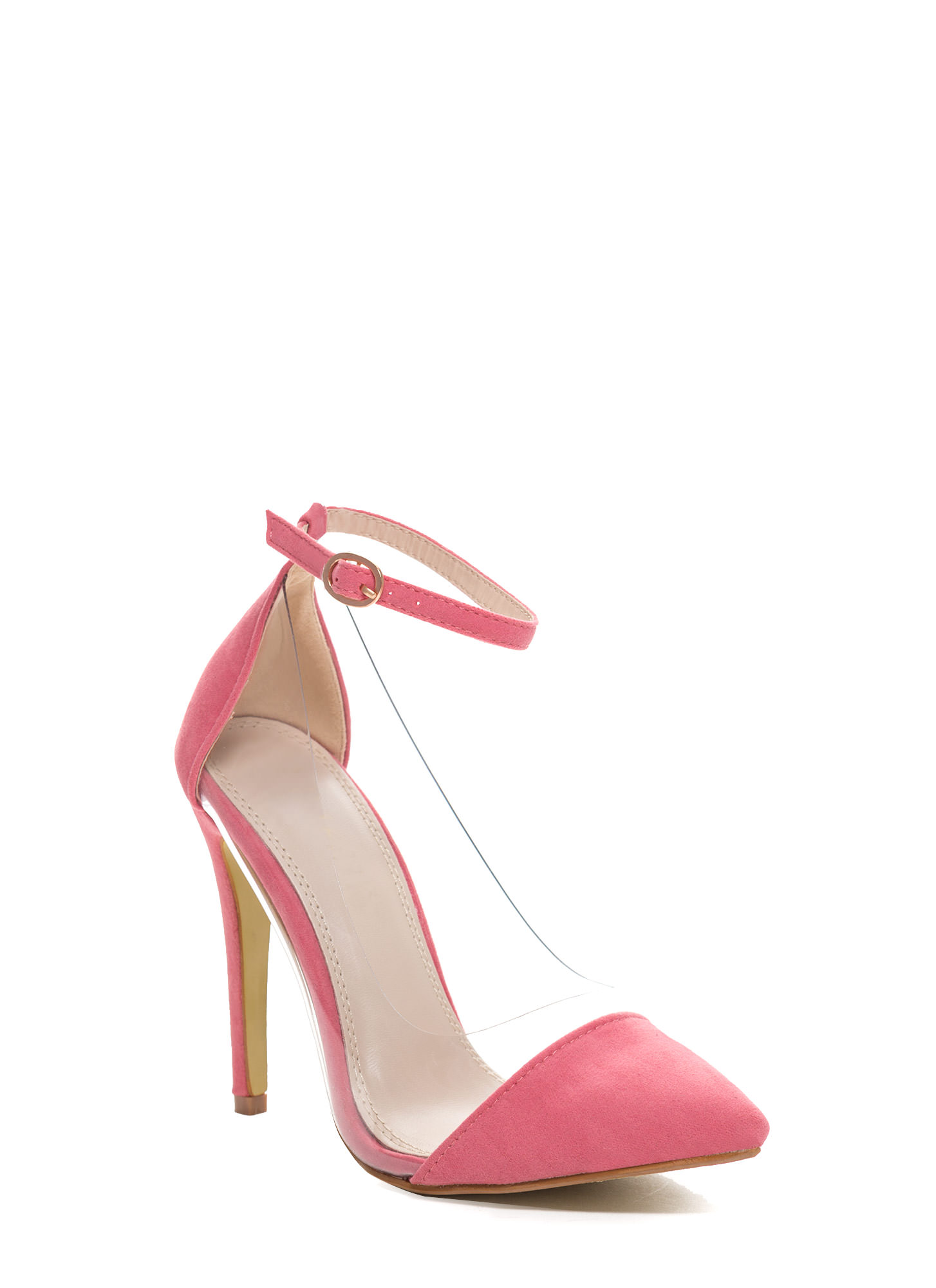 Show Some Skin Cap Toe Heels CORAL