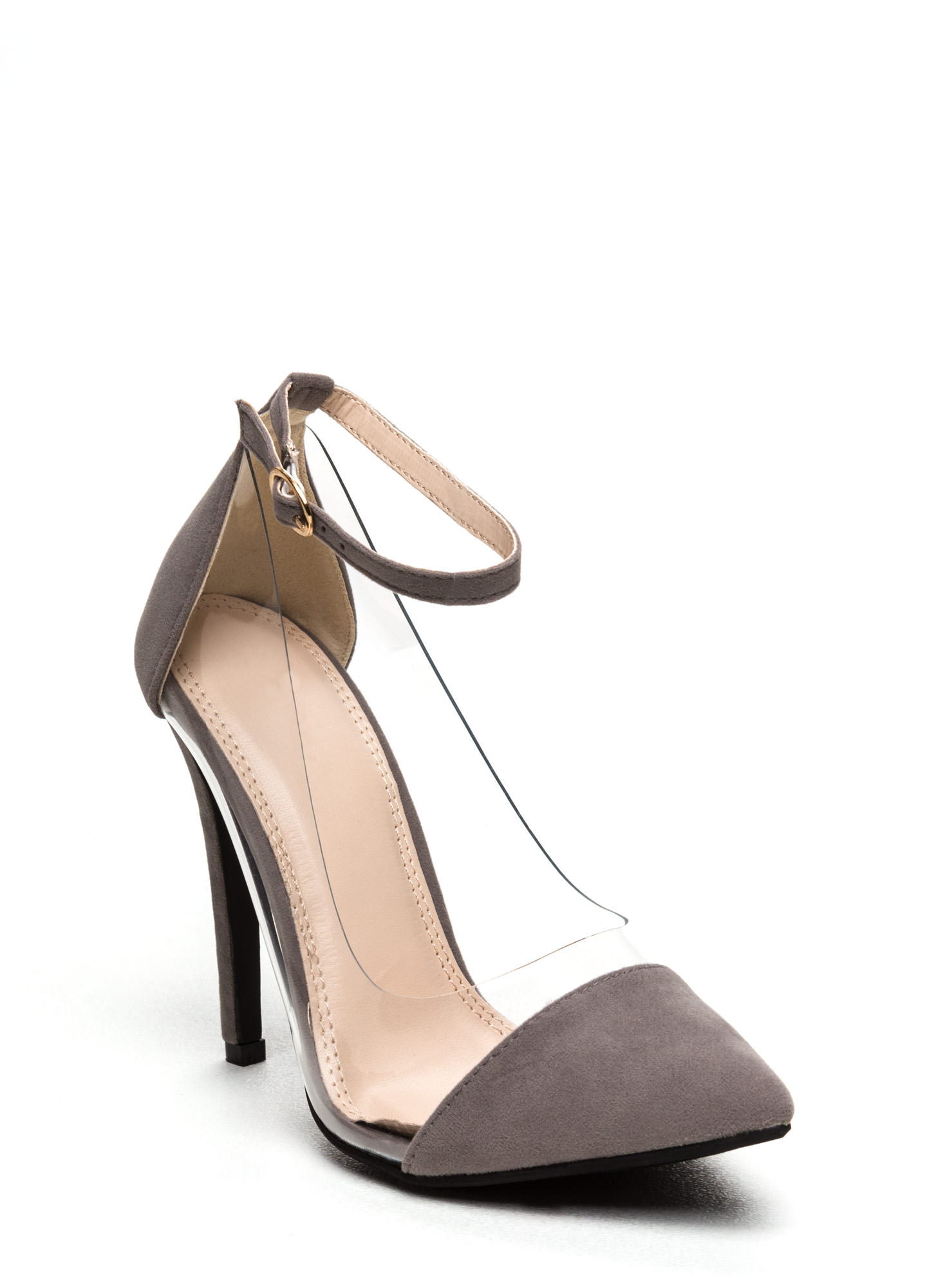 Show Some Skin Cap Toe Heels GREY