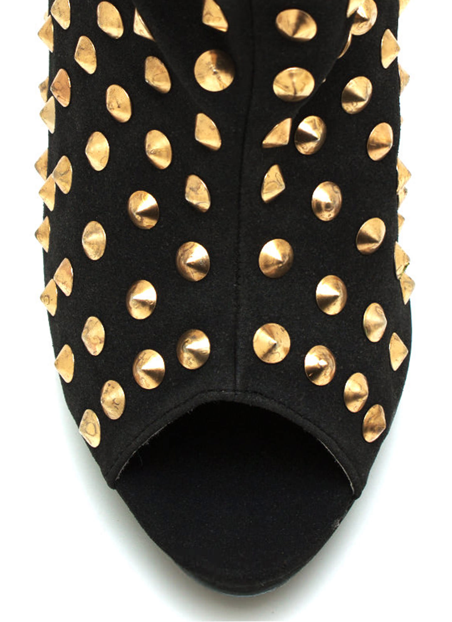 Everything Is Better Spiked Booties BLACK