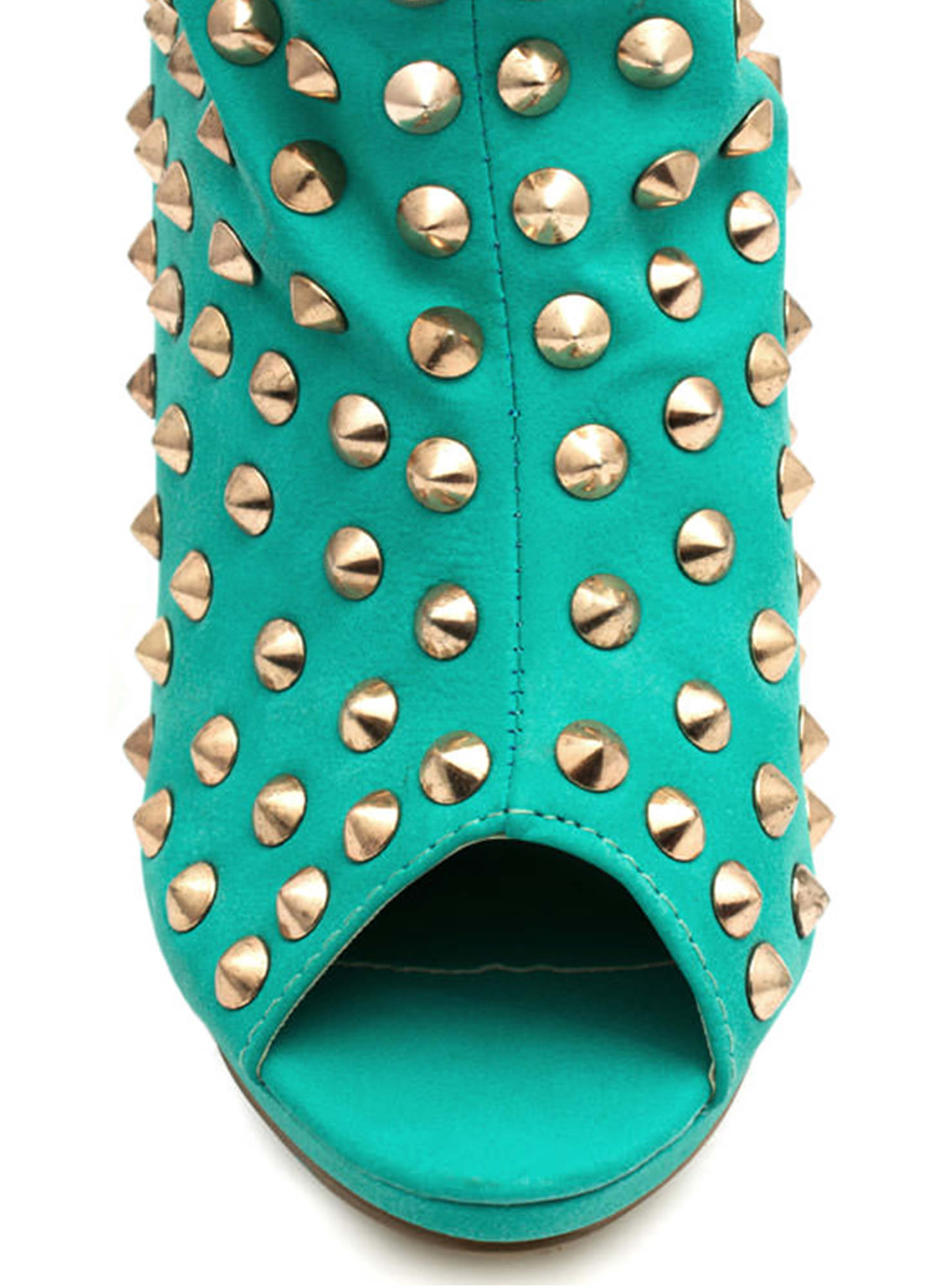 Everything Is Better Spiked Booties SEAGREEN