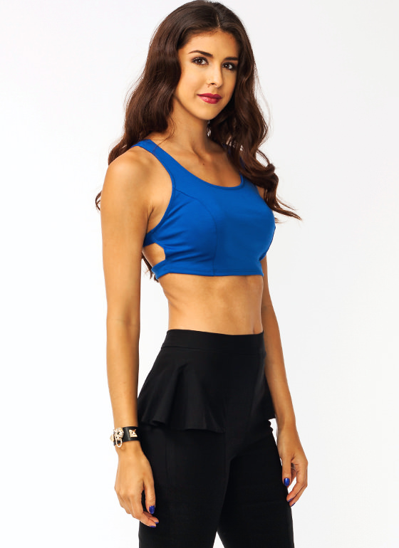 Five Points Ringed Cropped Top ROYAL