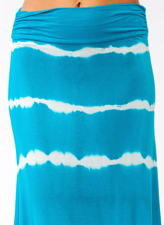 Line Up Tie Dye Maxi Skirt BLUE