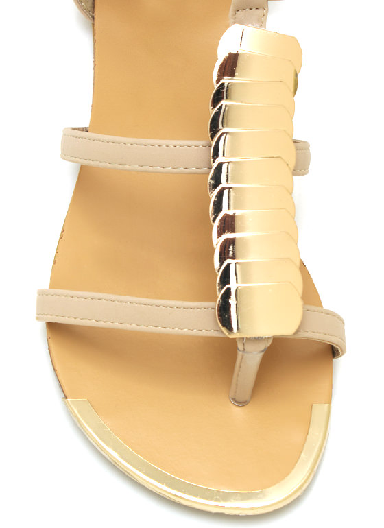 Snakey Lady Sandals NUDE (Final Sale)
