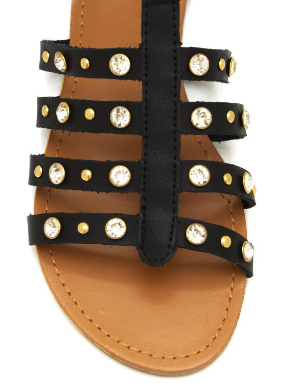Shine Bright Gladiator Sandals BLACK