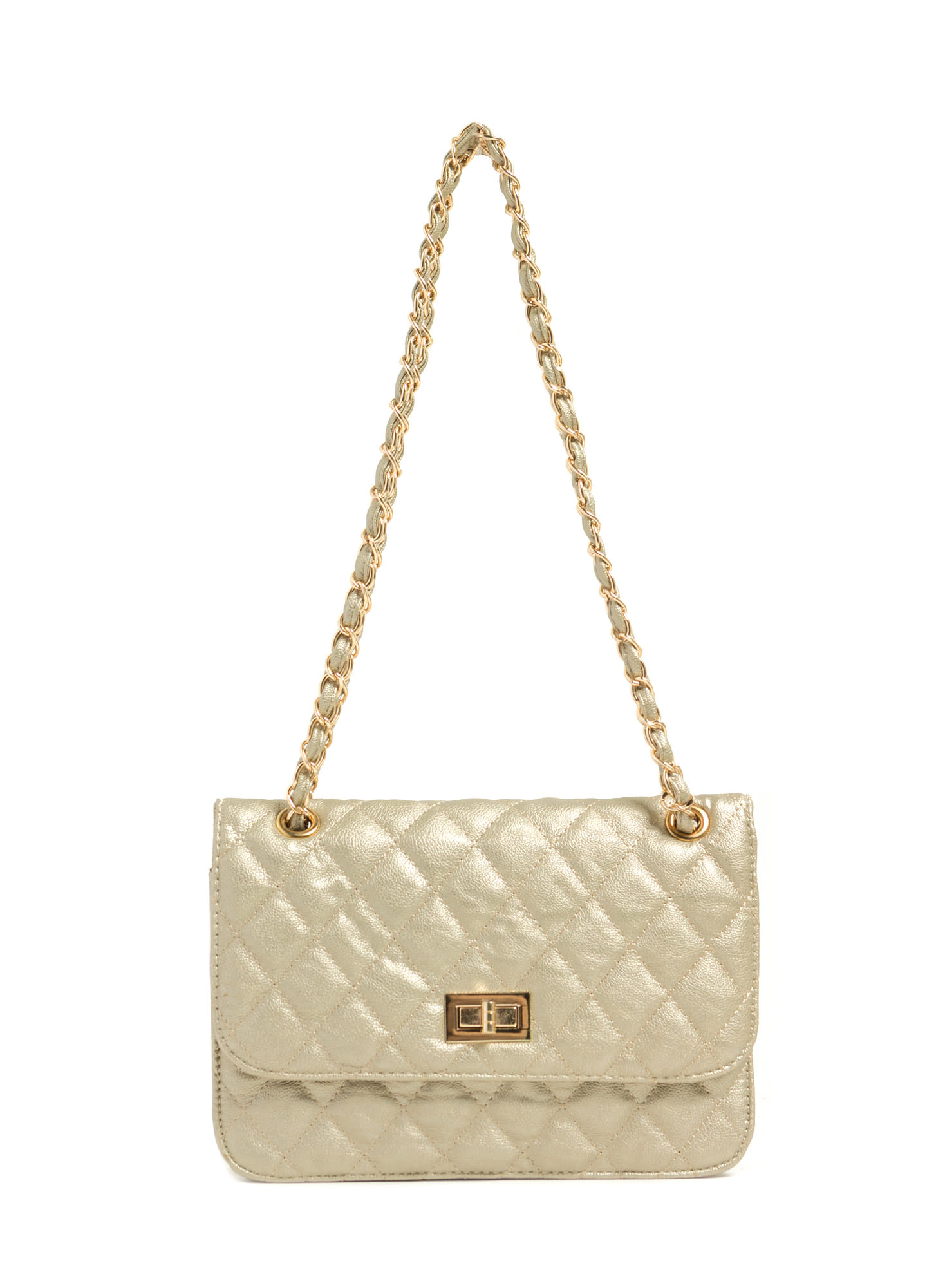 Feeling Quilty Purse GOLD