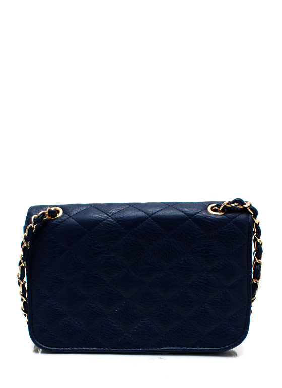 Feeling Quilty Purse NAVYGOLD