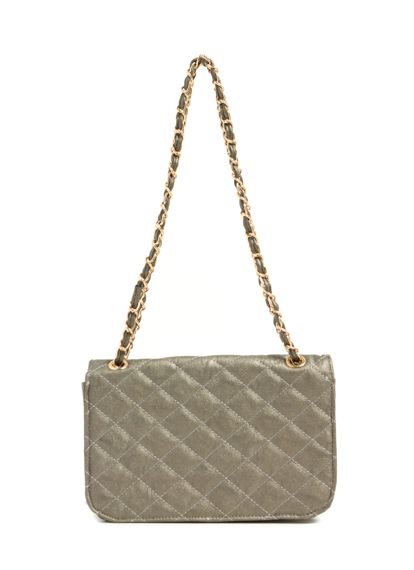 Feeling Quilty Purse PEWTER