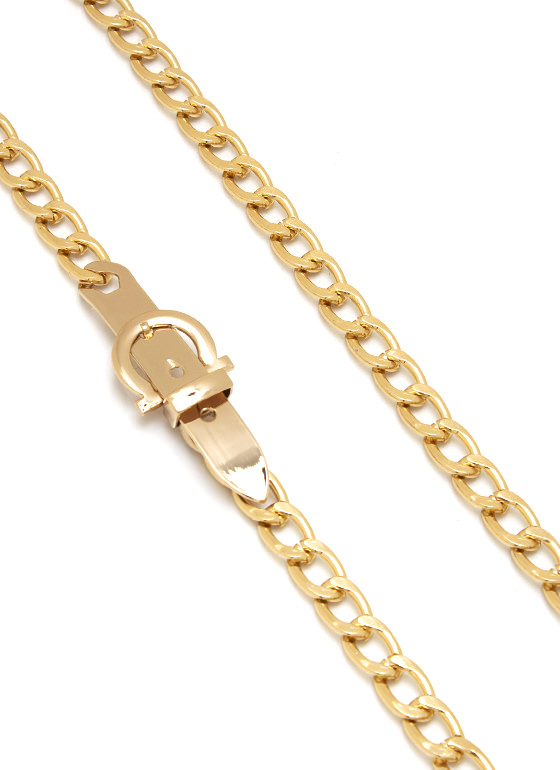 Buckle Up Chain Belt GOLD