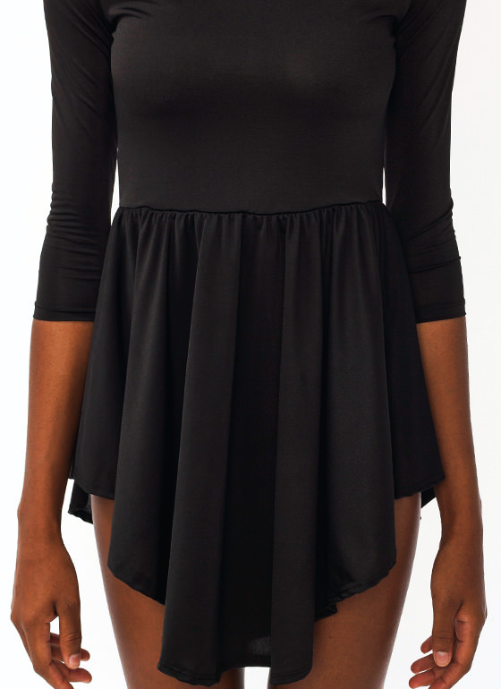 Simple Skater Dress BLACK