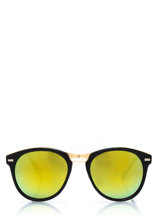 Seeing Colors Reflective Sunglasses BLACKLIME