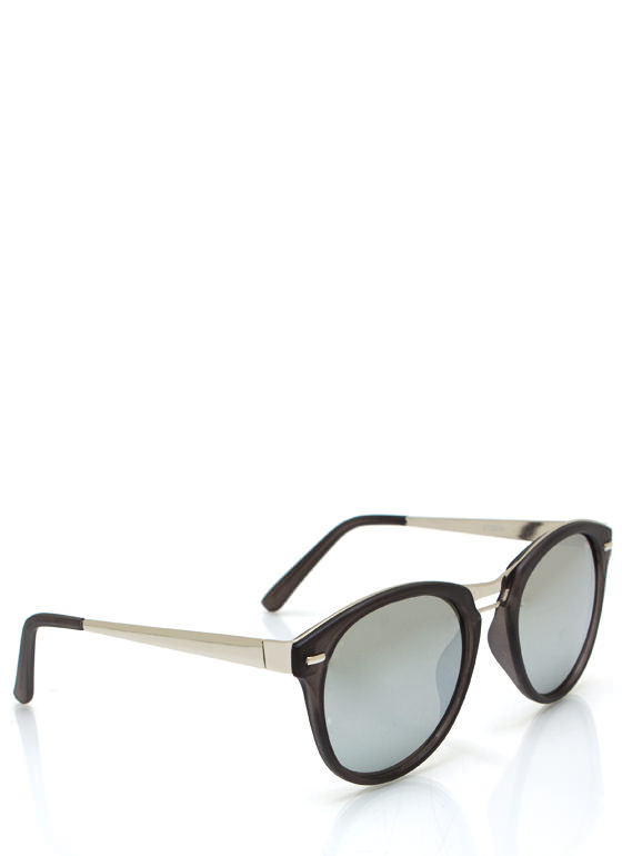 Seeing Colors Reflective Sunglasses BLACKSILVER