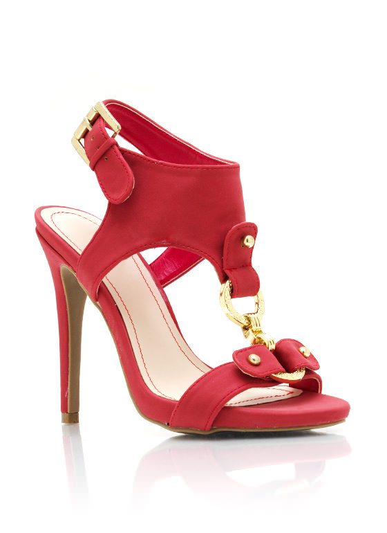 Double O Single Sole Heels RED