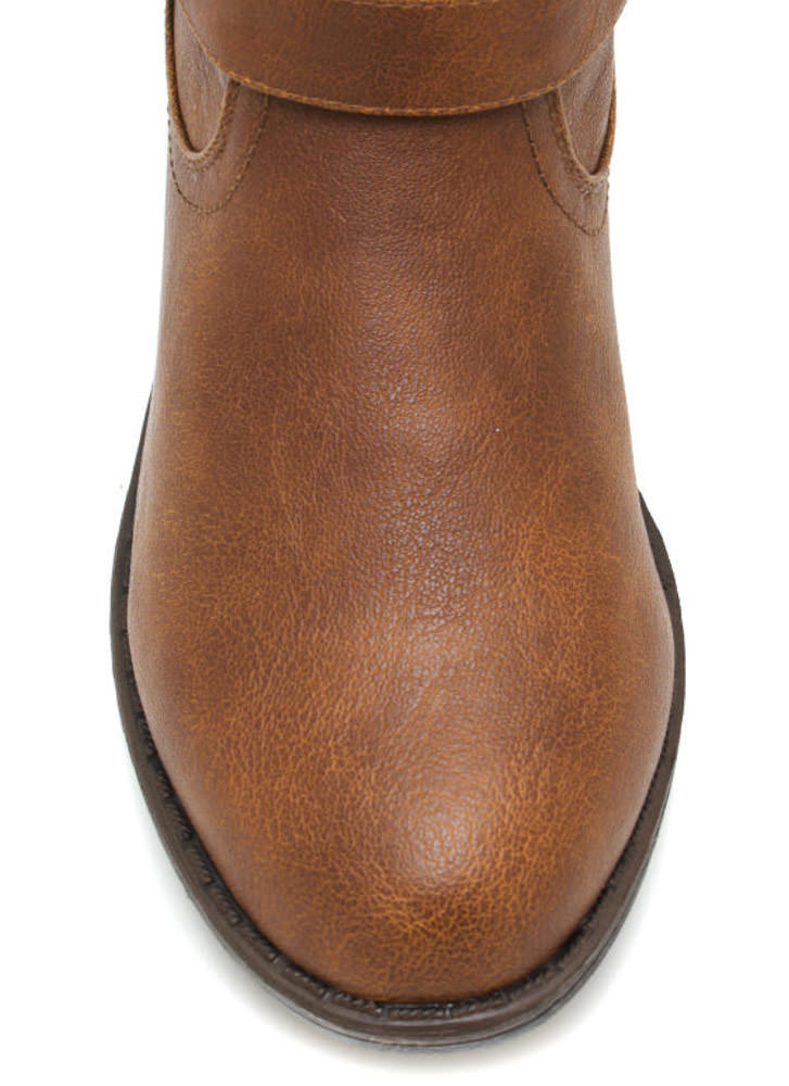 Metal Stud Muffin Riding Boots CHESTNUT