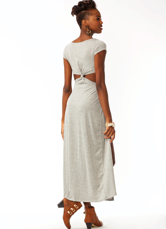 Knotty Girl Maxi Dress GREY