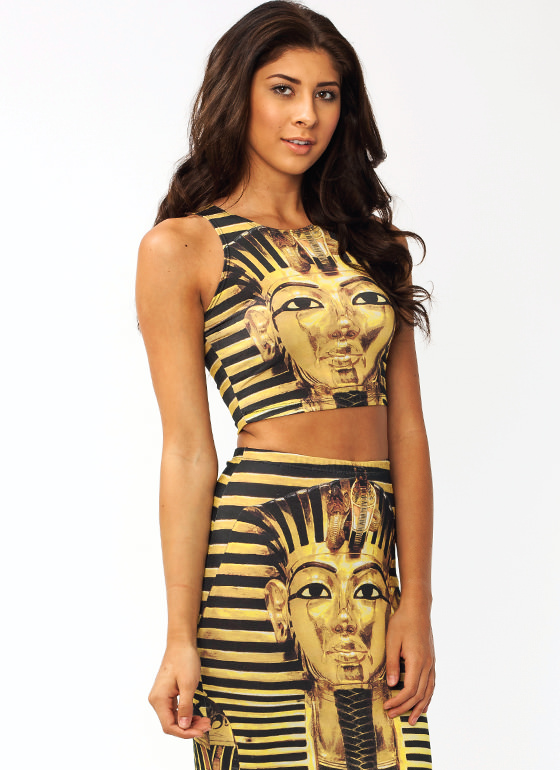 The Golden King Cropped Top GOLD