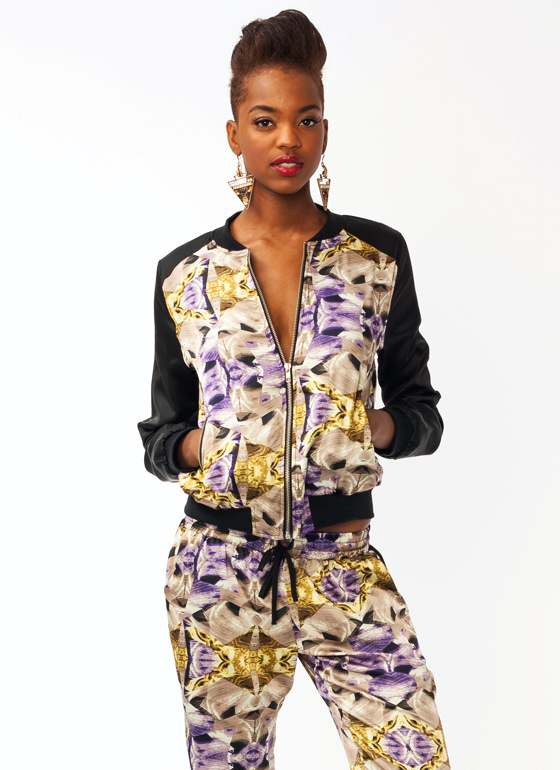 Shattered Glass Bomber Jacket PURPLEGOLD