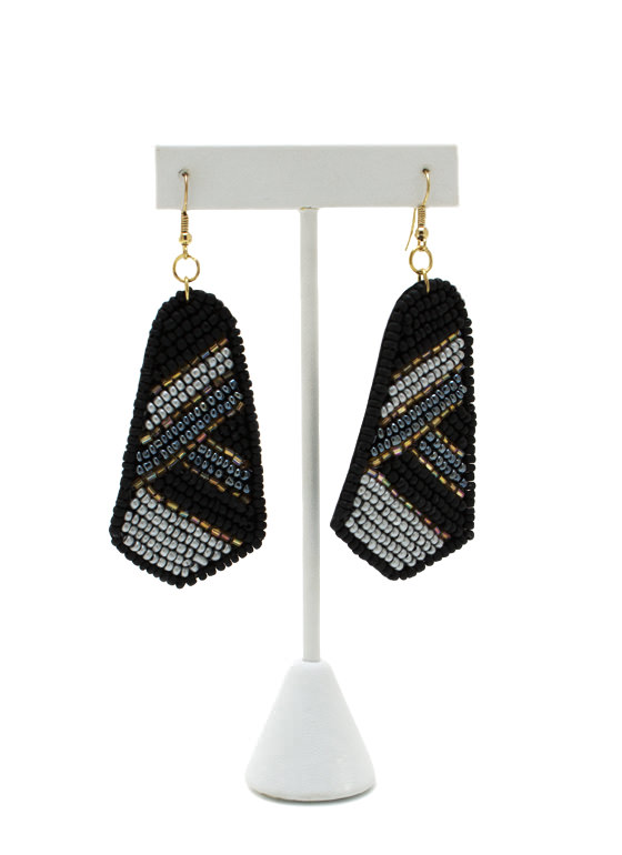 Bead It Up Earrings BLACKGOLD