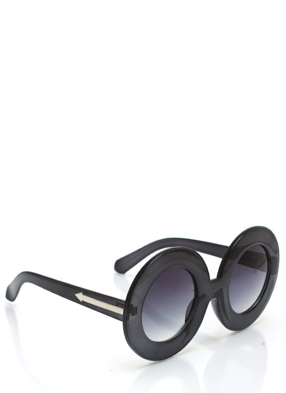 Round And Round Sunglasses CHARCOAL