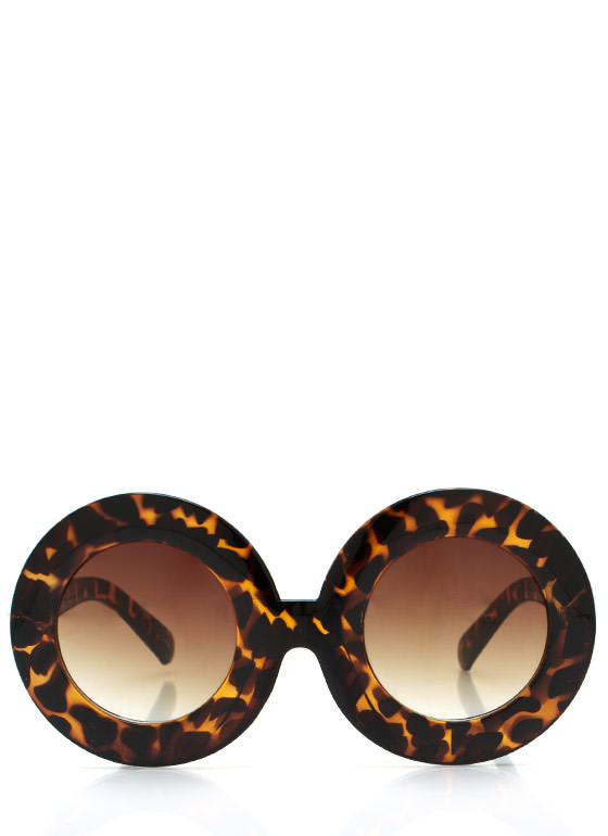 Round And Round Sunglasses DKTORTOISE