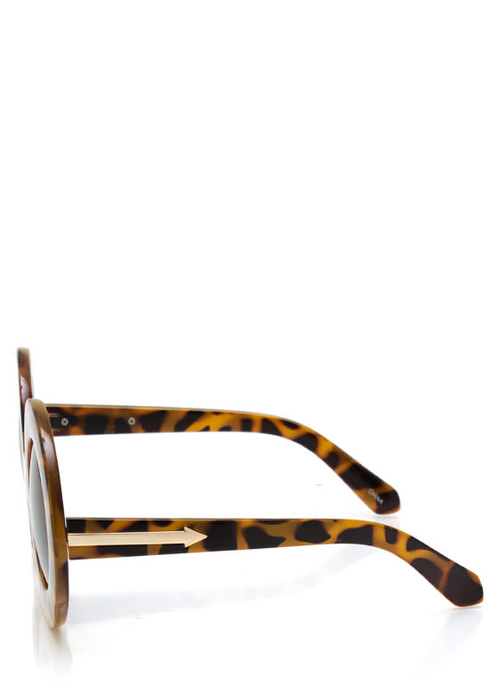 Round And Round Sunglasses LTTORTOISE