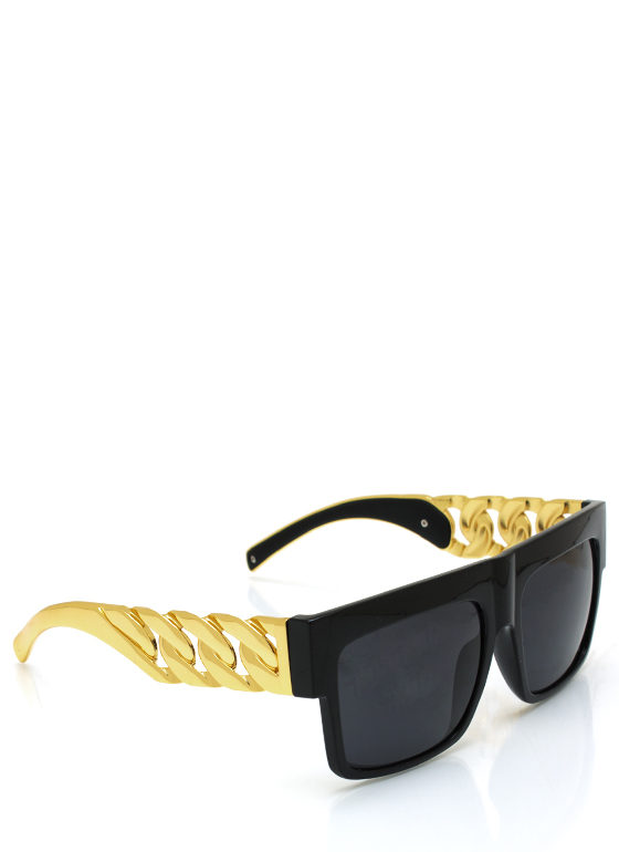 Chain Ge Is Here Sunglasses BLACKGOLD