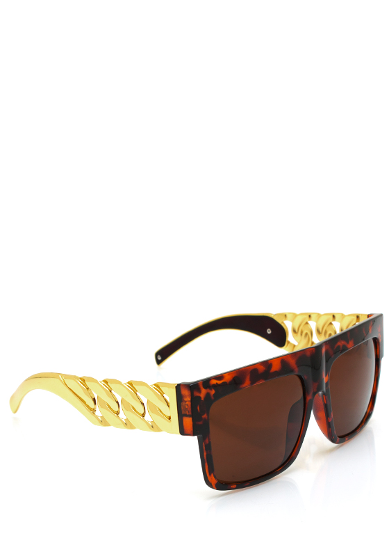 Chain Ge Is Here Sunglasses TORTGOLD