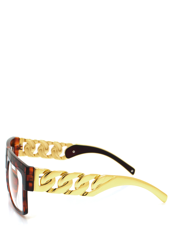 Chain Ge Is Here Glasses TORTGOLD